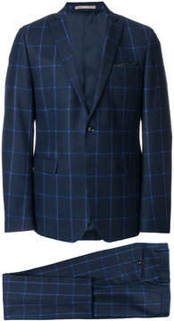 Paoloni checked two piece formal suit