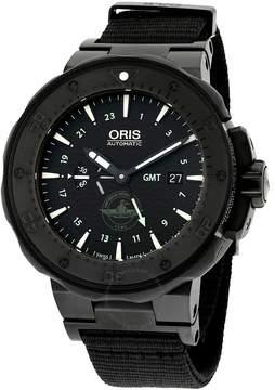 Oris Pro Diver Force Recon GMT Black Dial Black Rubber Men's Watch