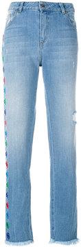 Each X Other appliqué straight leg jeans