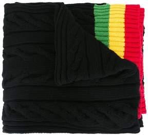 Palm Angels striped edges scarf
