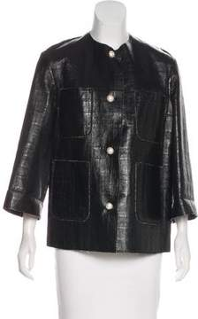 Chanel Leather Casual Jacket