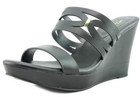 Thalia Sodi Martaa Women Open Toe Synthetic Black Wedge Sandal.