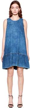 Baum und Pferdgarten Ruffled Denim Mini Dress