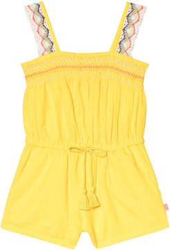 Billieblush Yellow Playsuit with Crochet Lace Straps