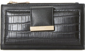 Dune Kira faux-croc embossed purse