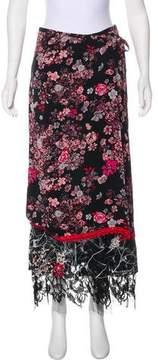 Christian Lacroix Bazar de Devoré Floral Skirt