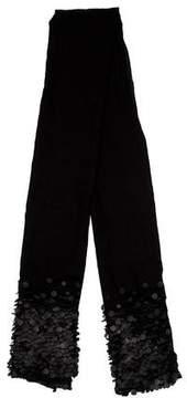 Diane von Furstenberg Embellished Silk & Wool-Blend Scarf