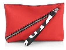 Proenza Schouler Asymmetric Leather Zip Pouch