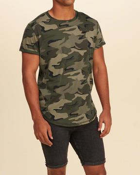 Hollister Must-Have Curved Hem T-Shirt