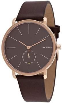 Skagen Hagen Collection SKW6213 Men's Leather Strap Watch