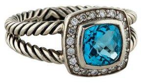 David Yurman Sterling Topaz & Diamond Petite Albion Ring