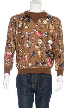 Hermes Champignons Wool & Silk Sweatshirt
