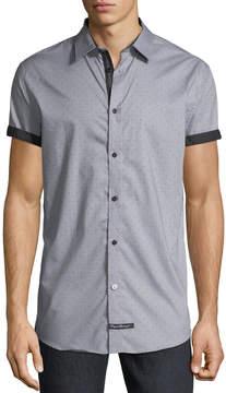 English Laundry Pin-Dot Short-Sleeve Sport Shirt