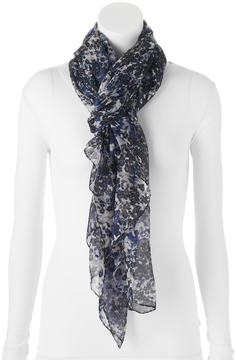 Apt. 9 Marbled Floral Chiffon Oversized Oblong Scarf