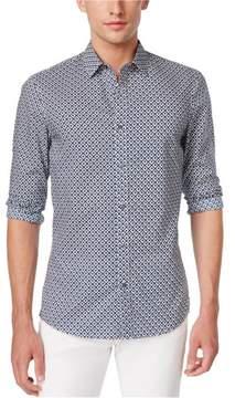 Michael Kors Diamond Button Up Shirt Blue M