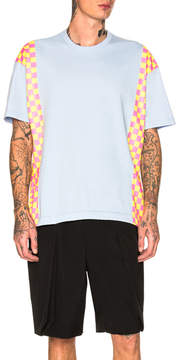 Comme des Garcons Check Pattern Print Tee