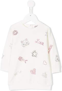 MonnaLisa embellished sweater dress