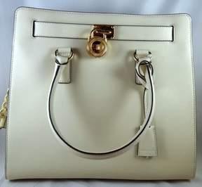 Michael Kors Hamilton Ecru Saffiano Leather Large North South Tote Bag - ONE COLOR - STYLE