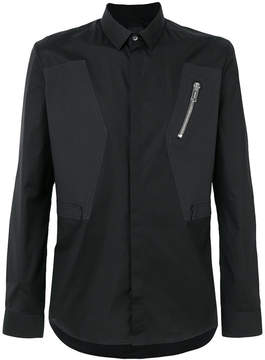 Les Hommes zip detail shirt
