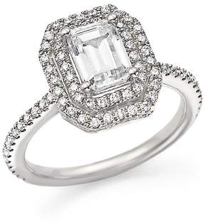 Bloomingdale's Diamond Double Halo Solitaire Ring in 14K White Gold, 1.25 ct. t.w. - 100% Exclusive