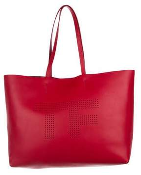 Tom Ford Perforated Logo Tote