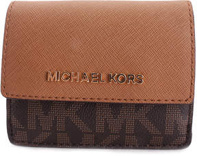 Michael Kors Brown & Acorn Logo Wallet - BROWN - STYLE
