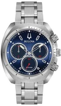Bulova Curv 96A185 Blue / Silver Satinless Steel Analog Quartz Men's Watch