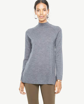 Ann Taylor Extrafine Merino Wool Mock Neck Sweater