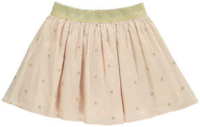 Emile et Ida Embroidered Star Cotton Voile Skirt