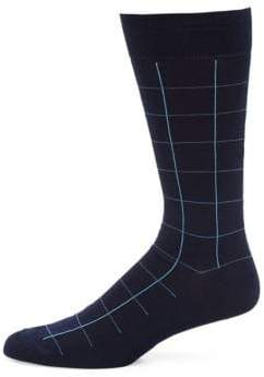 Pantherella Lambeth Motif Windowpane Socks