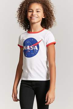 Forever 21 Girls NASA Ringer Tee