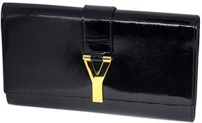 Saint Laurent Chyc patent leather clutch bag - BLACK - STYLE