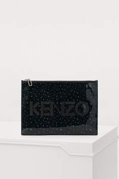 Kenzo A4 Logo Leopard clutch 'Holiday Capsule'