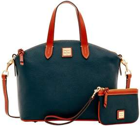 Dooney & Bourke Pebble Grain Satchel & Medium Wristlet - MULTI-COLOR - STYLE