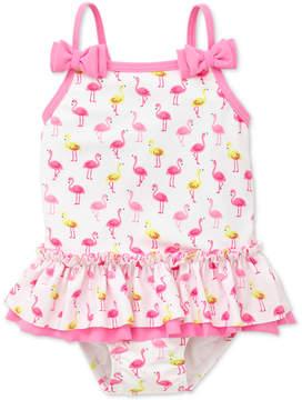 Little Me Flamingo-Print Swimsuit, Baby Girls