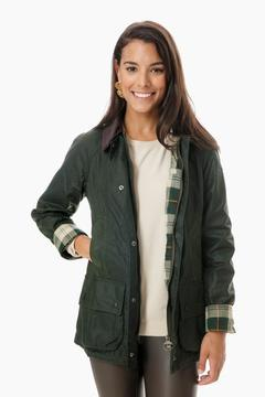Barbour Sage Beadnell Wax Jacket