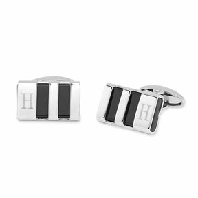 Asstd National Brand Personalized Stainless Steel & Enamel Cuff Links