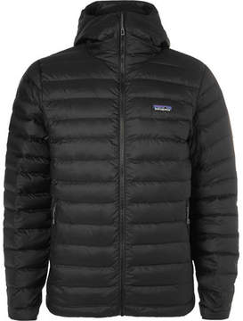 Patagonia Quilted Dwr-Coated Ripstop Shell Hooded Down Jacket