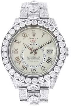 Rolex White Gold Sky Dweller with Diamonds 42MM