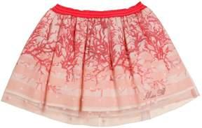 Miss Blumarine Layered Cotton Voile & Tulle Skirt
