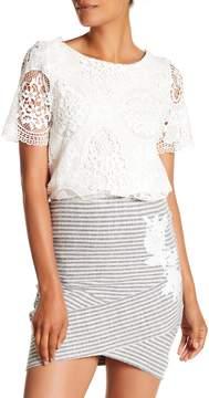 Desigual Crochet Short Sleeve Blouse
