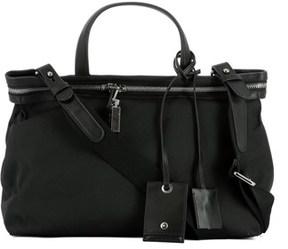 Calvin Klein Men's Black Fabric Messenger Bag.