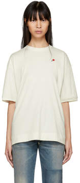 6397 SSENSE Exclusive White Embroidered Rose Sport T-Shirt