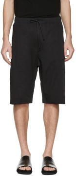 Isabel Benenato Black Cotton Zip Shorts
