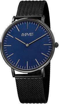 August Steiner Mens Black Strap Watch-As-8219bk