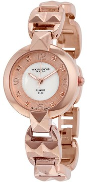Akribos XXIV Rose Gold-tone Alloy Ladies Watch