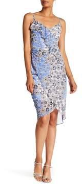GUESS V-Neck Floral Print Dress