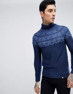 Pretty Green Fairisle Abbott Roll Neck Sweater