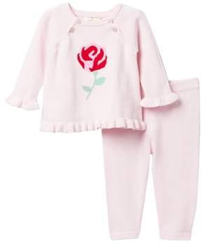 Kate Spade intarsia rose sweater & leggings set (Baby Girls)