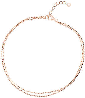 Bliss 14k Rose Gold-Plated Double-Layered Anklet
